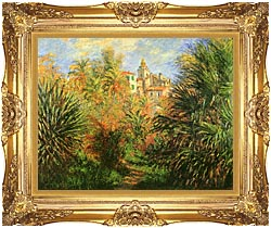 Claude Monet Gardens At Bordighera canvas with Majestic Gold frame