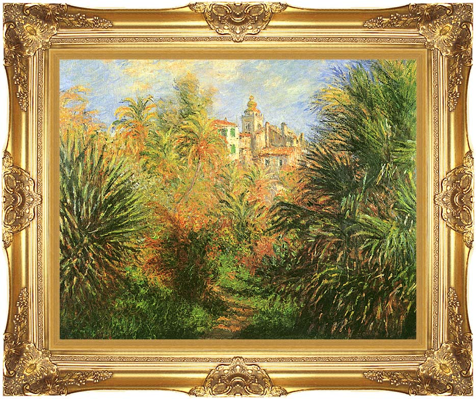 Claude Monet Gardens at Bordighera with Majestic Gold Frame