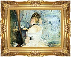 Berthe Morisot Lady At Her Toilette canvas with Majestic Gold frame
