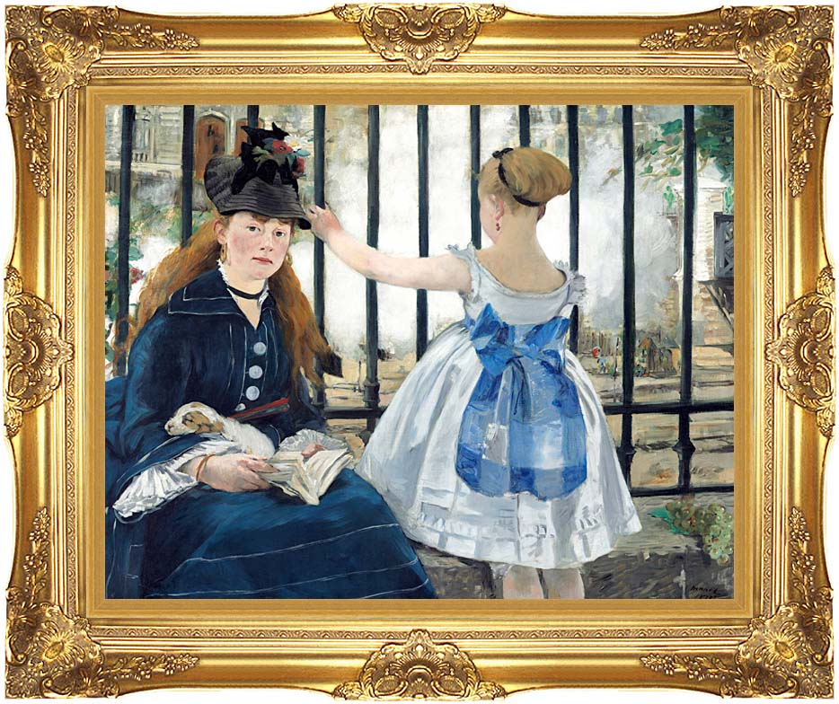 Edouard Manet Gare Sainte-Lazare with Majestic Gold Frame