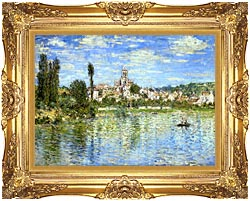 Claude Monet Vetheuil In Summer canvas with Majestic Gold frame