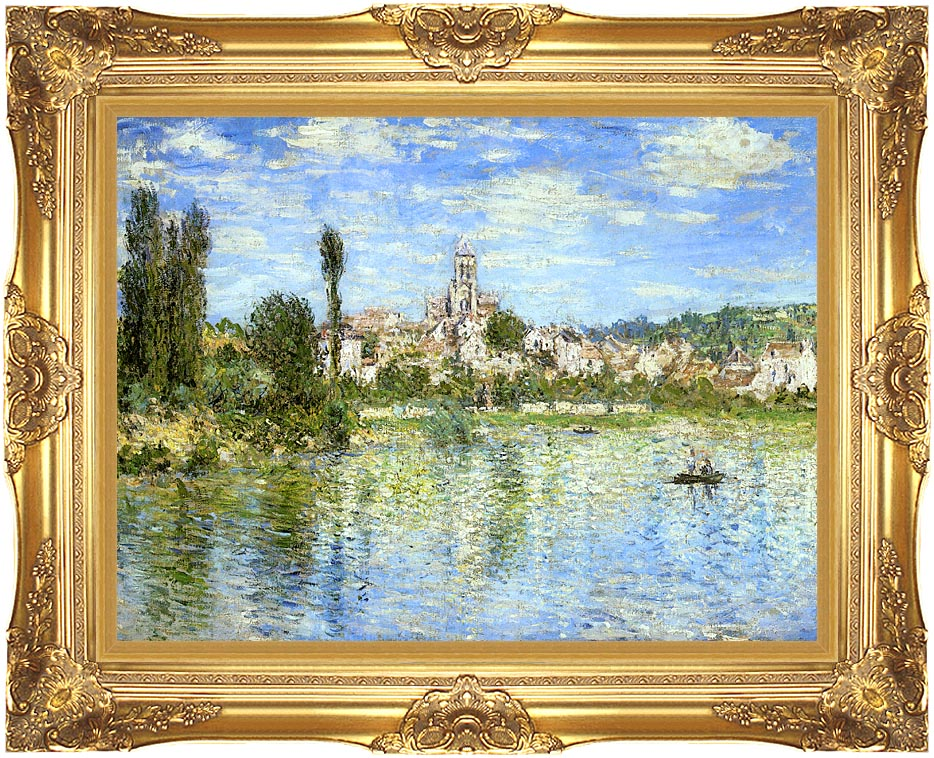 Claude Monet Vetheuil in Summer with Majestic Gold Frame