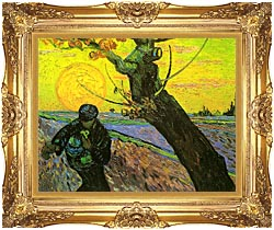Vincent Van Gogh The Sower 1888 canvas with Majestic Gold frame