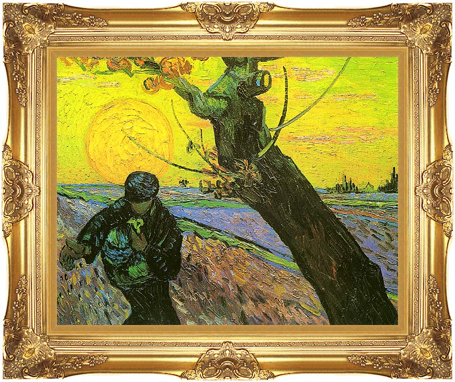 Vincent van Gogh The Sower 1888 with Majestic Gold Frame