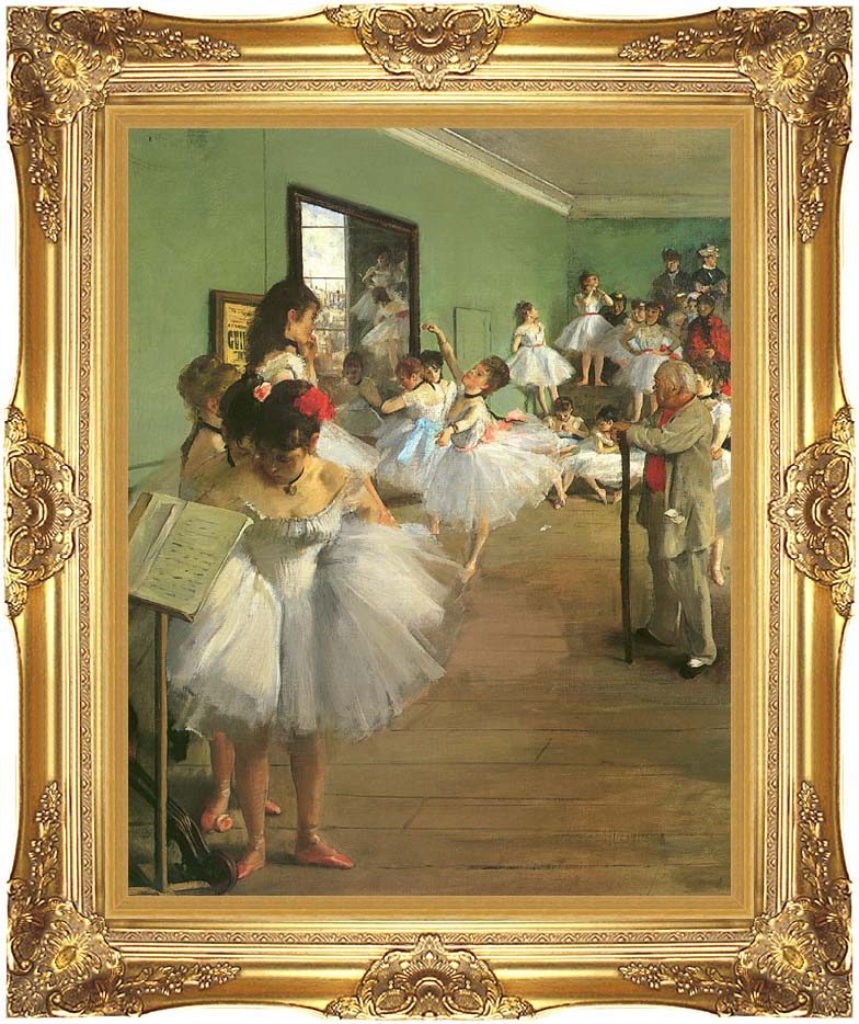 Edgar Degas The Dance Class with Majestic Gold Frame
