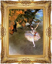 Edgar Degas The Star canvas with Majestic Gold frame