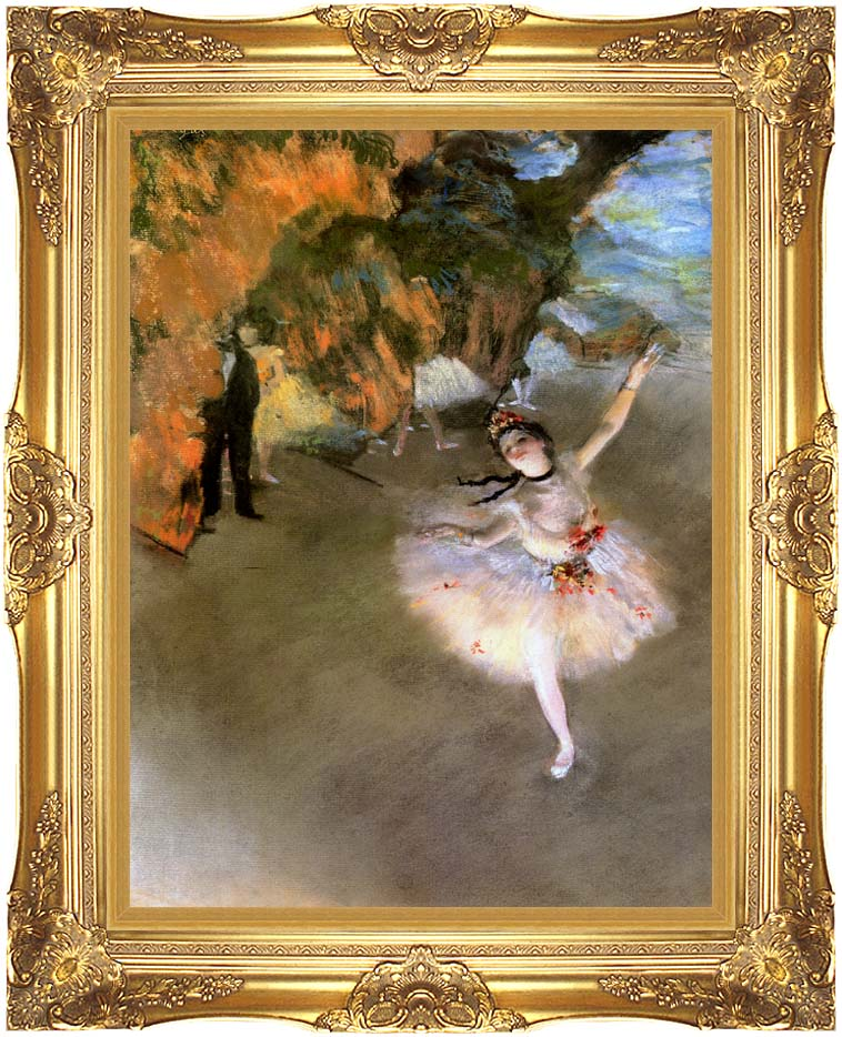 Edgar Degas The Star with Majestic Gold Frame