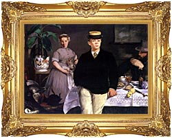 Edouard Manet Luncheon In The Studio canvas with Majestic Gold frame