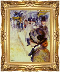 Pierre Auguste Renoir Place Clichy canvas with Majestic Gold frame