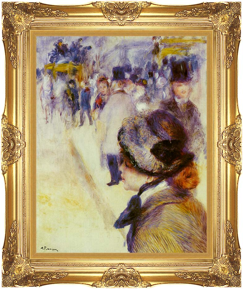 Pierre Auguste Renoir Place Clichy with Majestic Gold Frame