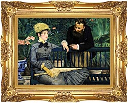 Edouard Manet In The Conservatory canvas with Majestic Gold frame
