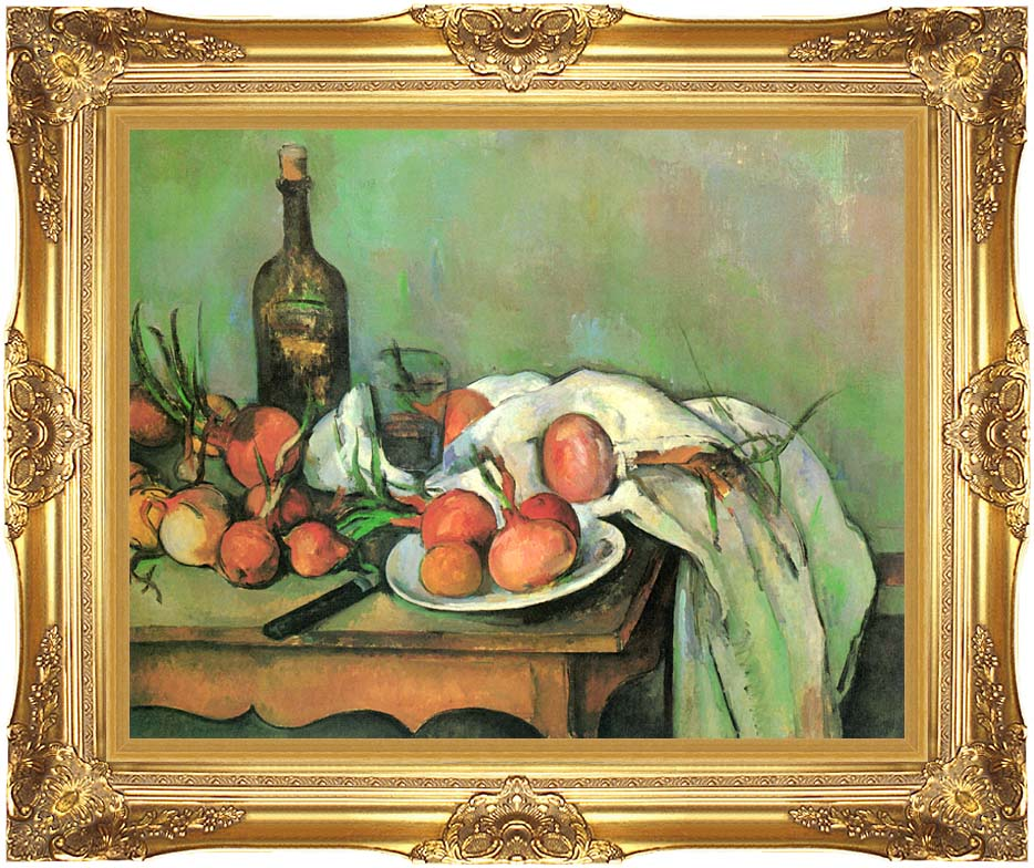 Paul Cezanne Still Life with Onions with Majestic Gold Frame