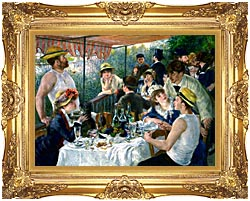 Pierre Auguste Renoir The Luncheon Of The Boating Party canvas with Majestic Gold frame