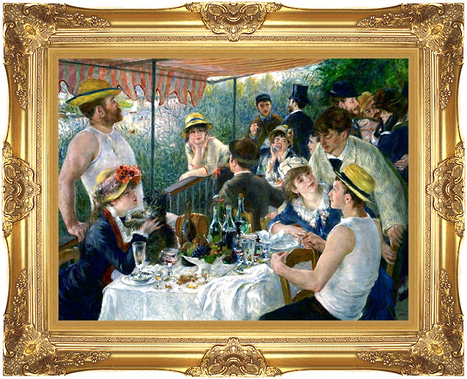 Pierre Auguste Renoir The Luncheon of the Boating Party with Majestic Gold Frame