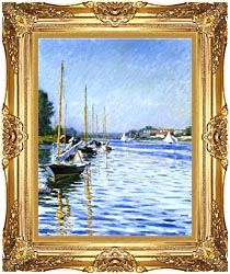 Gustave Caillebotte Boats On The Seine At Argenteuil canvas with Majestic Gold frame