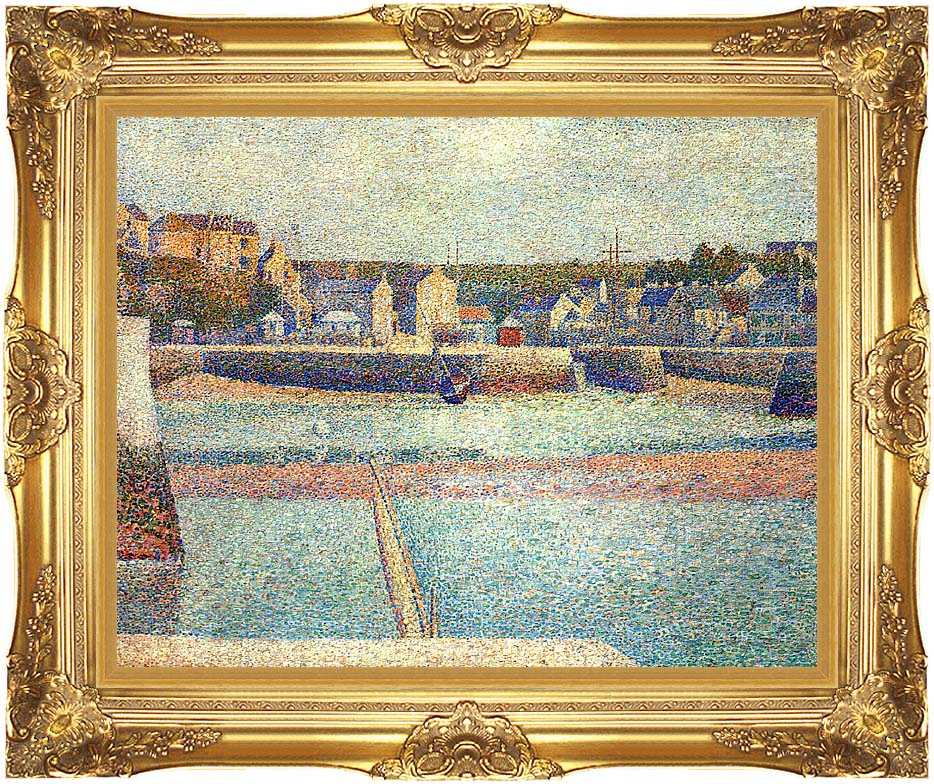 Georges Seurat Port-en-Bessin, The Outer Harbor at Low Tide with Majestic Gold Frame