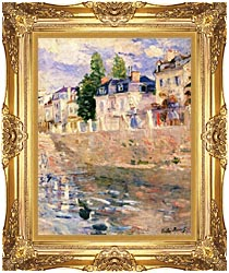 Berthe Morisot The Quay At Bougival canvas with Majestic Gold frame