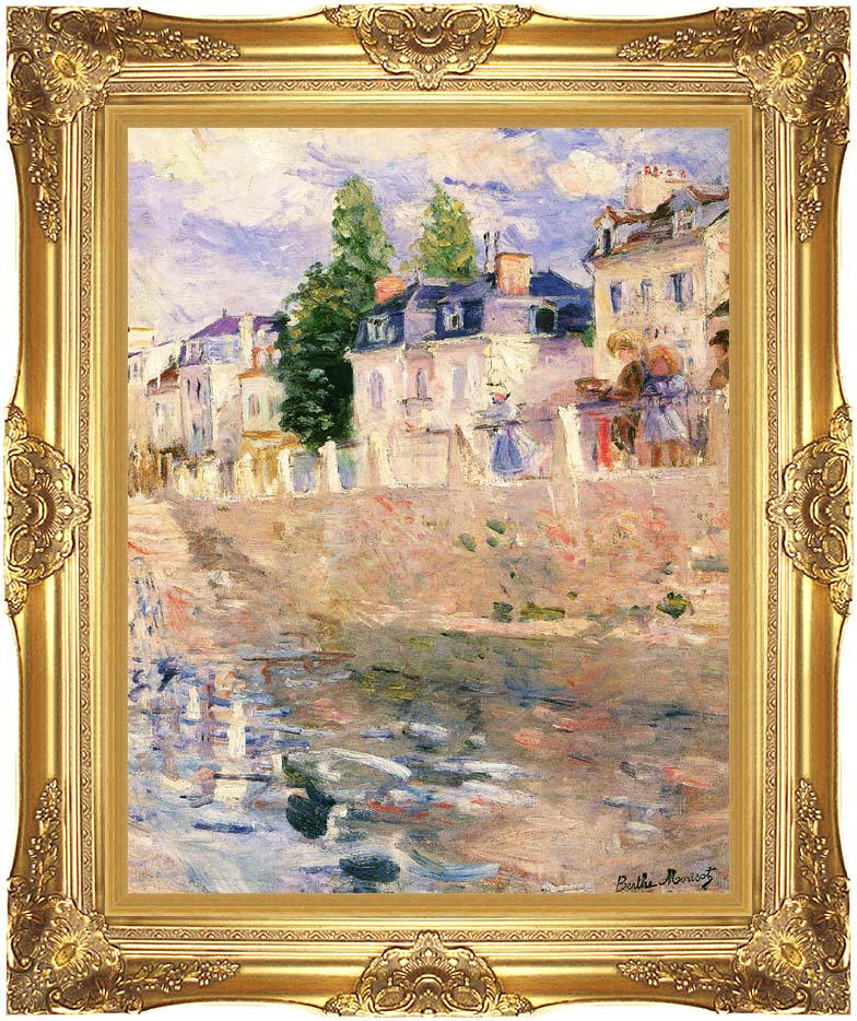 Berthe Morisot The Quay at Bougival with Majestic Gold Frame