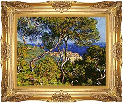 Claude Monet Bordighera canvas with Majestic Gold frame