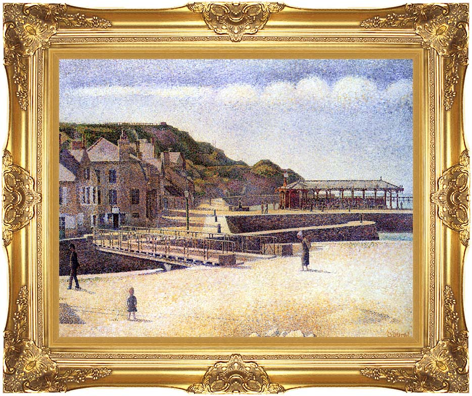 Georges Seurat Port-en-Bessin with Majestic Gold Frame