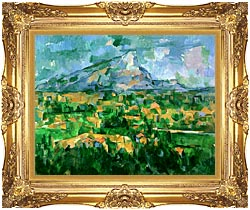 Paul Cezanne Mont Sainte Victoire 1904 canvas with Majestic Gold frame