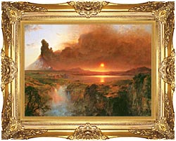 Frederic Edwin Church Cotopaxi Detail canvas with Majestic Gold frame