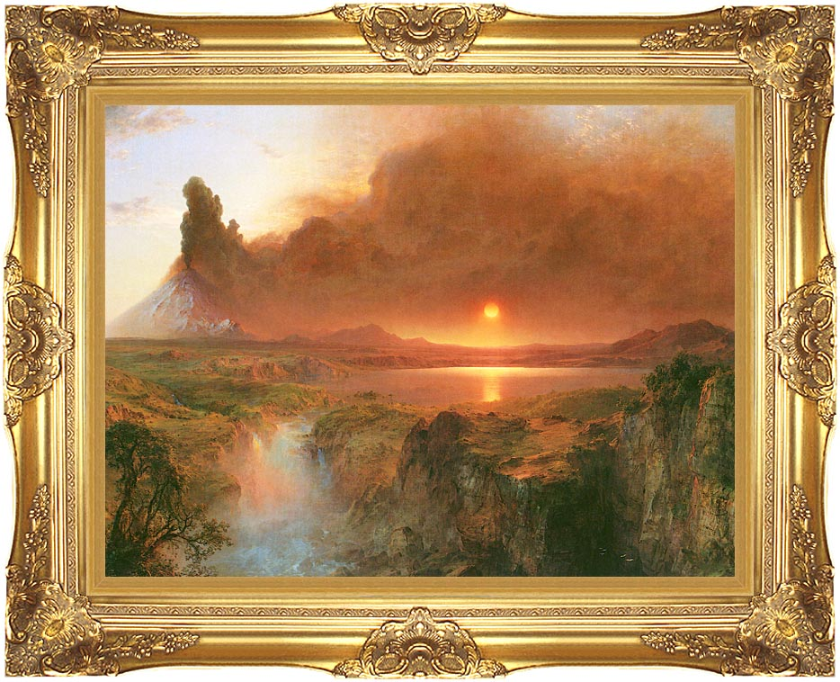 Frederic Edwin Church Cotopaxi (detail) with Majestic Gold Frame