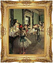 Edgar Degas Dance Class canvas with Majestic Gold frame