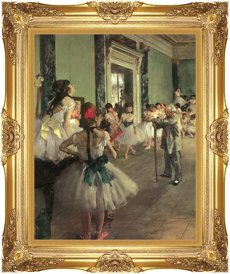 Edgar Degas Dance Class with Majestic Gold Frame