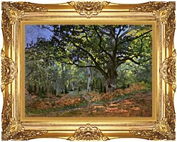 Claude Monet The Bodmer Oak Forest Of Fontainebleau canvas with Majestic Gold frame