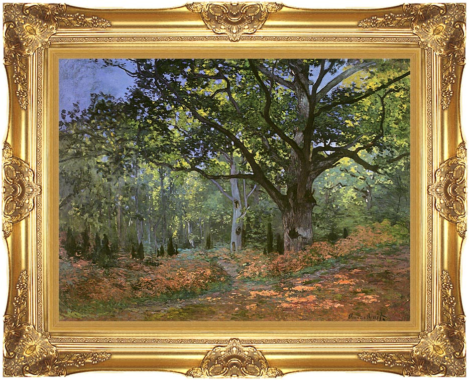 Claude Monet The Bodmer Oak, Forest of Fontainebleau with Majestic Gold Frame