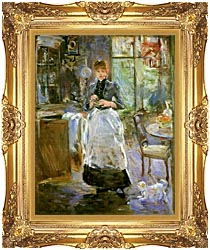 Berthe Morisot In The Dining Room canvas with Majestic Gold frame