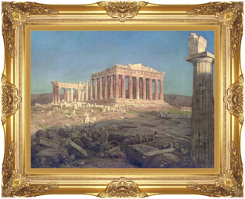 Frederic Edwin Church The Parthenon (detail) with Majestic Gold Frame