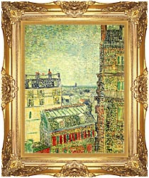 Vincent Van Gogh Paris Seen From Vincents Room In The Rue Lepic canvas with Majestic Gold frame