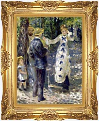 Pierre Auguste Renoir The Swing canvas with Majestic Gold frame
