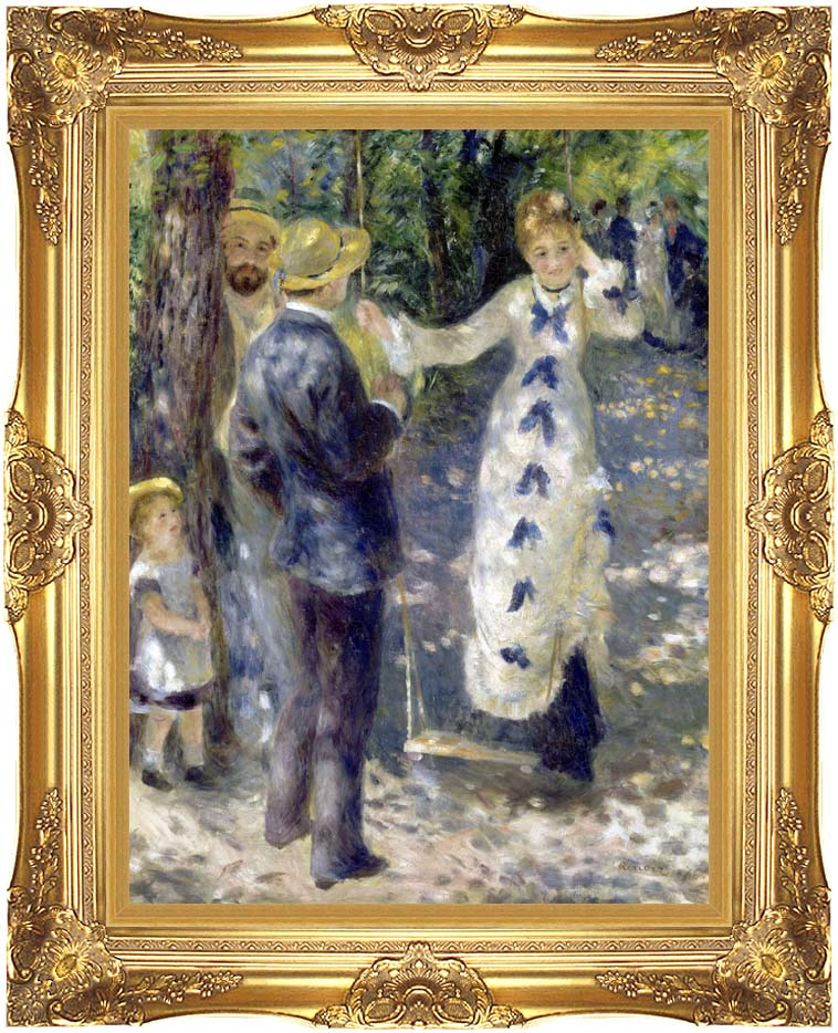 Pierre Auguste Renoir The Swing with Majestic Gold Frame