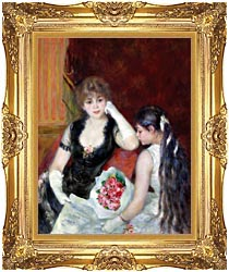 Pierre Auguste Renoir At The Concert canvas with Majestic Gold frame
