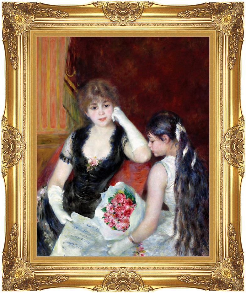 Pierre Auguste Renoir At the Concert with Majestic Gold Frame