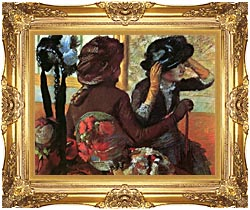 Edgar Degas At The Milliners canvas with Majestic Gold frame