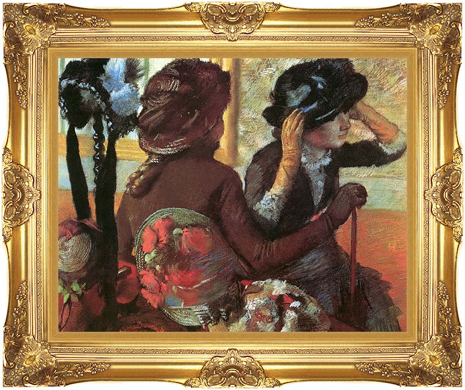 Edgar Degas At the Milliner's with Majestic Gold Frame