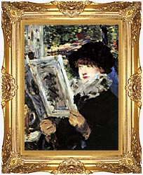 Edouard Manet The Reader canvas with Majestic Gold frame