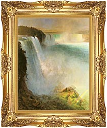 Frederic Edwin Church Niagara Falls From The American Side canvas with Majestic Gold frame