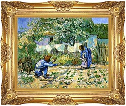 Vincent Van Gogh First Steps canvas with Majestic Gold frame