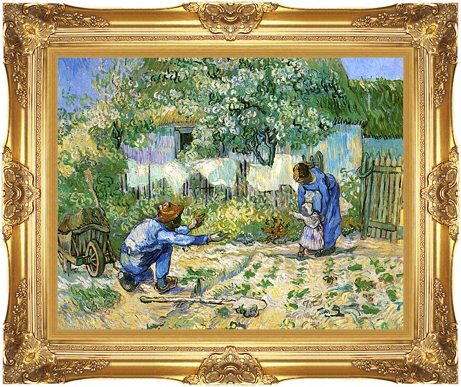 Vincent van Gogh First Steps with Majestic Gold Frame