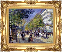 Pierre Auguste Renoir The Great Boulevards canvas with Majestic Gold frame