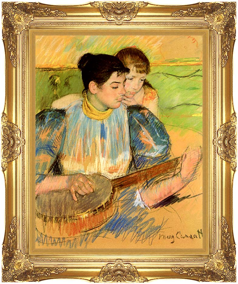 Mary Cassatt The Banjo Lesson with Majestic Gold Frame
