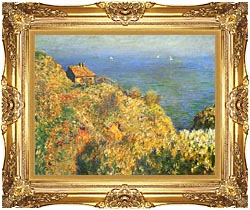 Claude Monet The Fishermans House Varengeville canvas with Majestic Gold frame