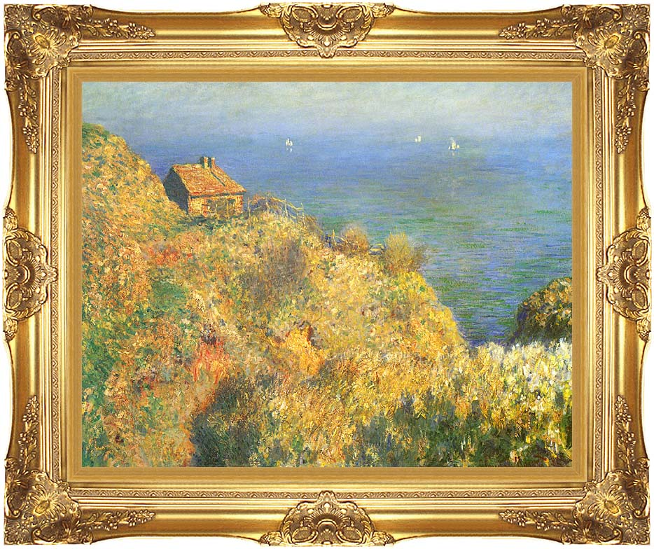 Claude Monet The Fisherman's House, Varengeville with Majestic Gold Frame