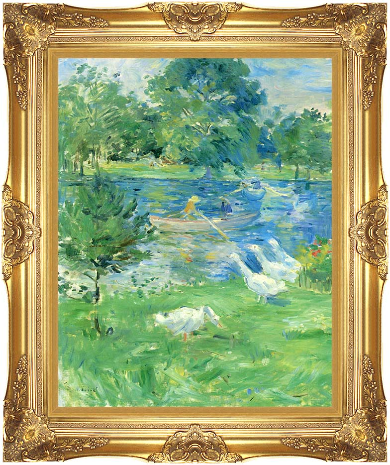 Berthe Morisot View of the Bois de Boulogne with Majestic Gold Frame