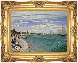 Claude Monet Regatta At Sainte Adresse canvas with Majestic Gold frame